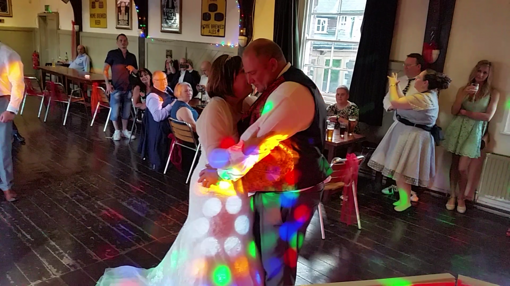 Mr and Mrs Meridths wedding - First Dance Three Tunns Inn Bishops Castle - Happy Sounds Mobile Disco