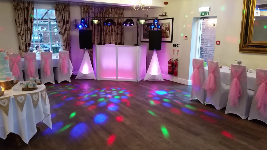 Beautiful wedding reception of Claire and Dan. Baby Pink - Mytton and Mermaid Shrewsbury - Happy Sounds Mobile Disco