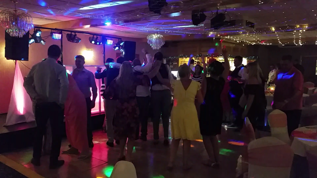 Wedding Celebrations Mr and Mrs Bowen. White Waters Hotel Llangollen - Happy Sounds Mobile Disco