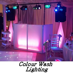 Colour wash lighting - Mood Lighting - Happy Sounds Mobile Disco