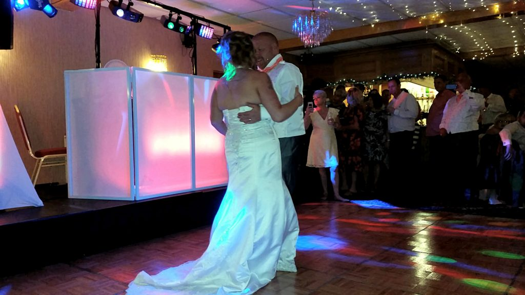 First Dance of Mr and Mrs Bowen - White Waters Hotel Llangollen - Happy Sounds Mobile Disco