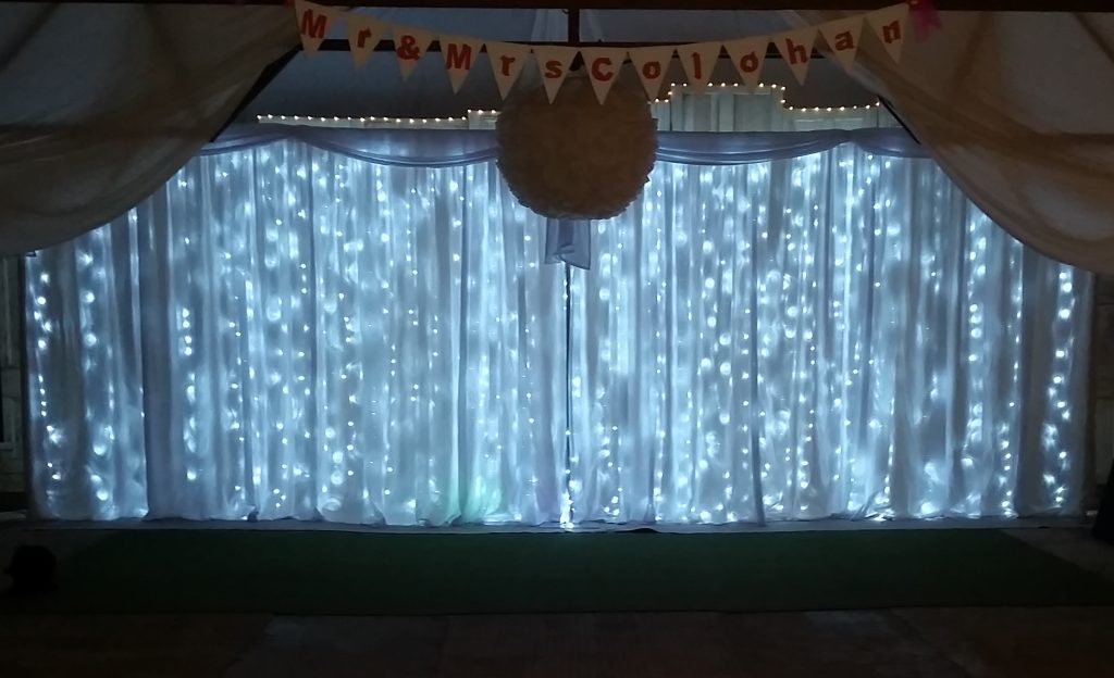 24ft - 7.5m Led Star-lit Wedding Backdrop - Happy Sounds Mobile Disco