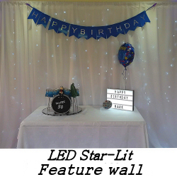 LED Star-Lit Feature Wall - Happy Sounds Mobile Disco Prices