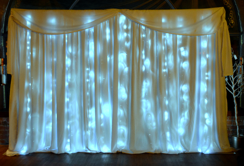 12ft - 3.25m Led Star-lit Wedding Backdrop - Happy Sounds Mobile Disco