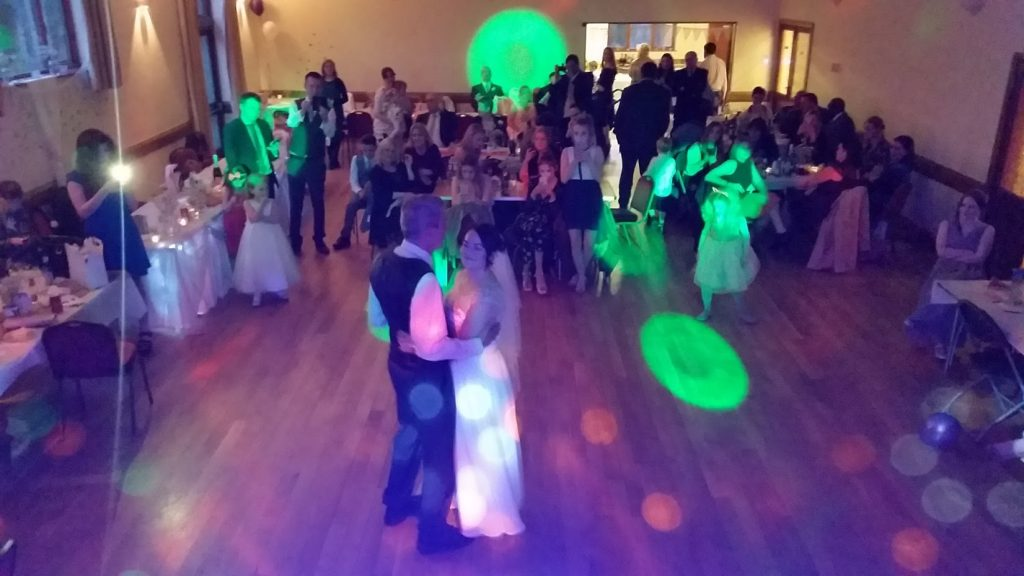 Katie and Mike's Wedding Reception. Welshhampton Parish Hall - Happy Sounds Mobile Disco