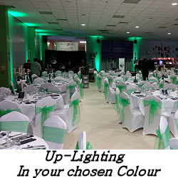 Uplighting Hire Service - Happy Sounds Mobile Disco Prices