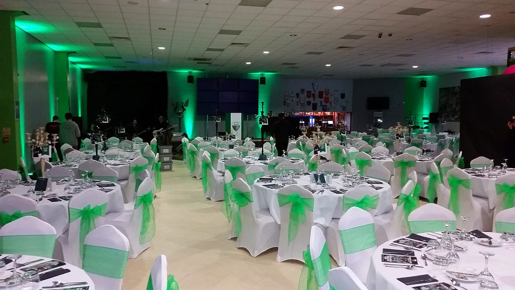 Green Uplighting - Up lighting - Happy Sounds Mobile Disco