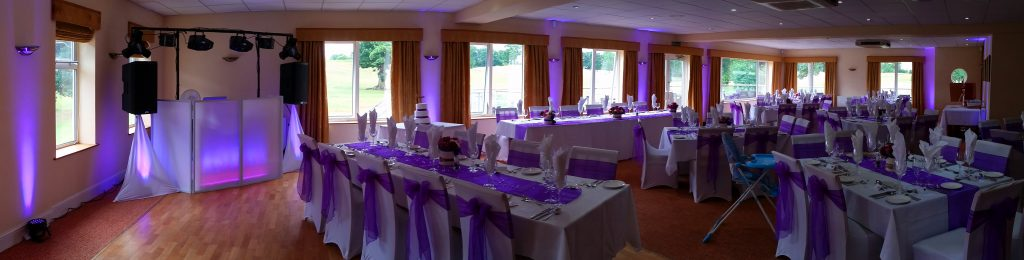 Purple Uplighting - Up Lighting - Happy Sounds Mobile Disco