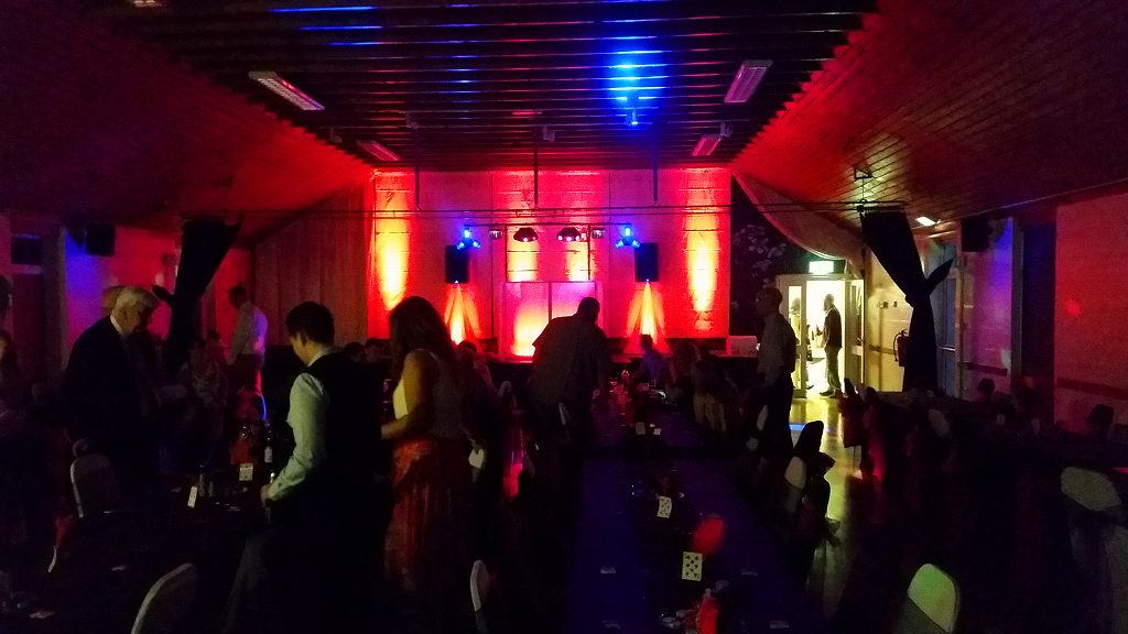 Red Uplighting - Up lighting - Happy Sounds Mobile Disco