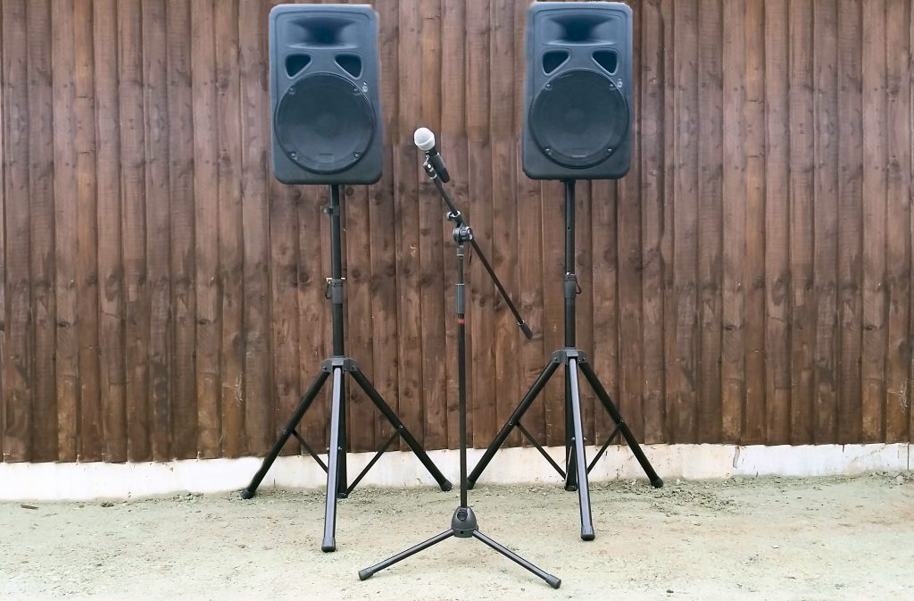 Public Address - PA Hire - Speakers and Microphone - Happy Sounds Mobile Disco