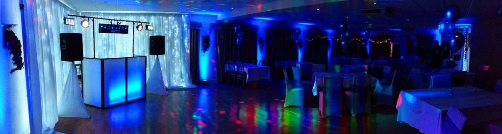Blue Uplighting - Up Lighting - Wedding Backdrop - Happy Sounds Mobile Disco