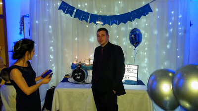30th Birthday - Feature Wall - Henlle Park Golf Club - Happy Sounds Mobile Disco