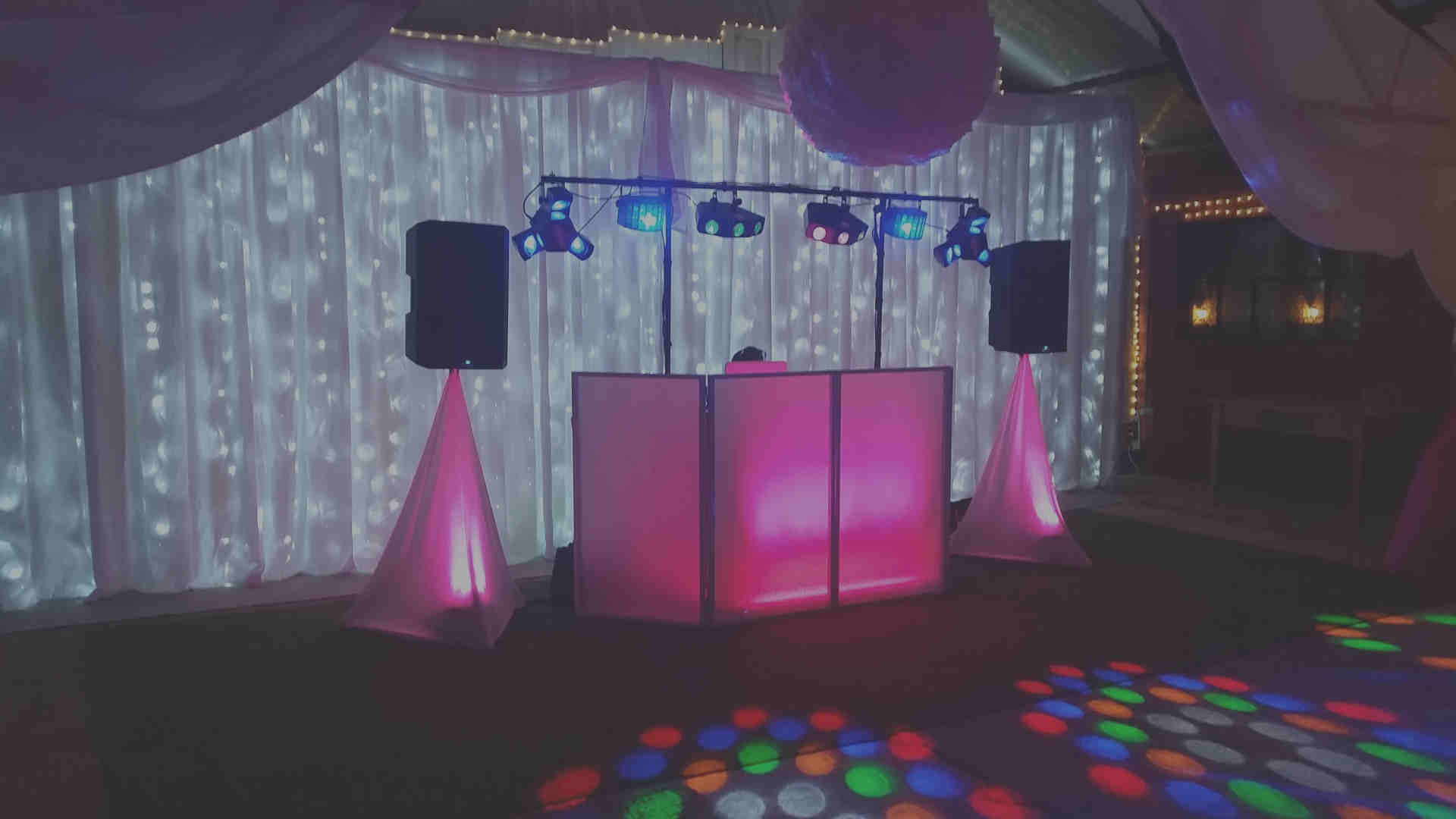 Wedding Backdrops - First Dance - Happy Sounds Mobile Disco