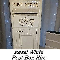 White Post Box Hire Service - Happy Sounds Mobile Disco
