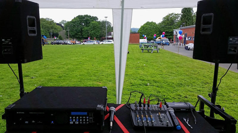 Public Address Hire - The Venue Oswestry - Happy Sounds Mobile Disco