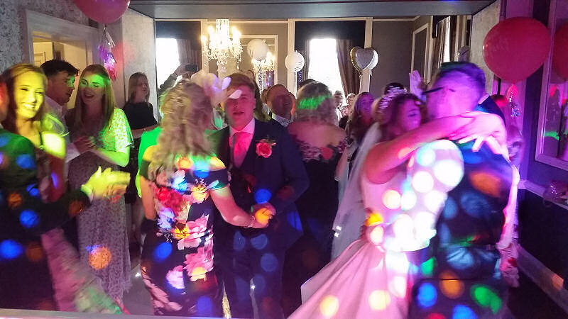 Wedding - LED Dance Floor - Wedding - Sweeney Hall Oswestry - Happy Sounds Mobile Disco