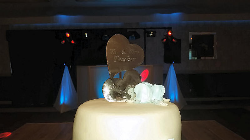 Wedding Cake - Bride and Groom - Maesmawr Hall - Happy Sounds Mobile Disco
