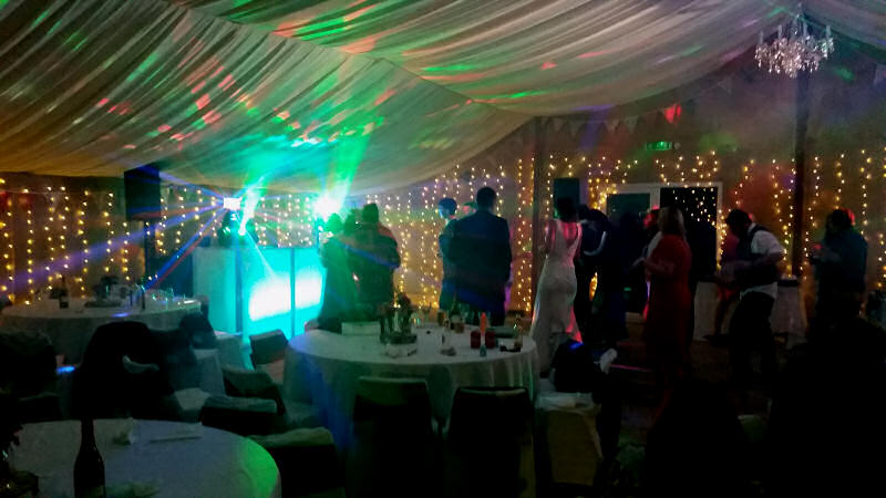 Wedding after party - Glyngwynedd Barns Llanidloes - Happy Sounds Mobile Disco